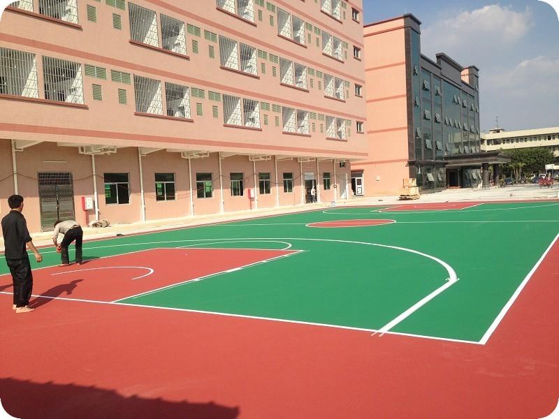 贵州环保型塑胶篮球场设计施工
