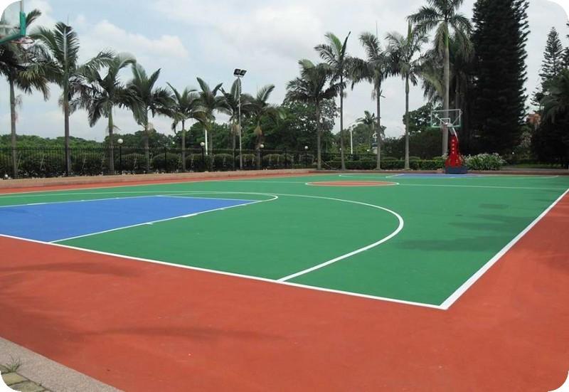 丙烯酸塑胶篮球场展示