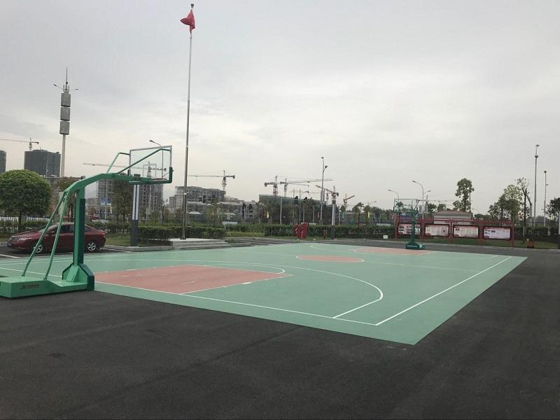 室外塑胶篮球场施工