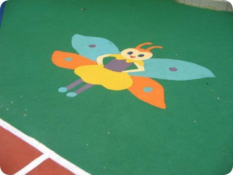 幼儿园塑胶安全地面