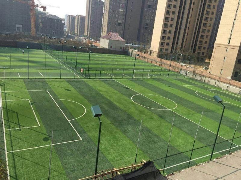 体育场专用足球场人造草坪铺设